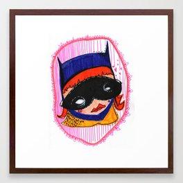 Batgirl in Love Framed Art Print