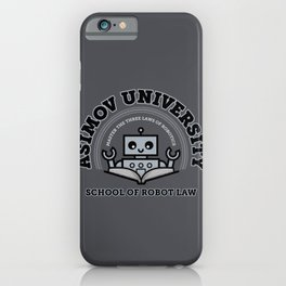 I Majored in Robot Law iPhone Case