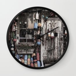 Fishing Shack Wall Clock