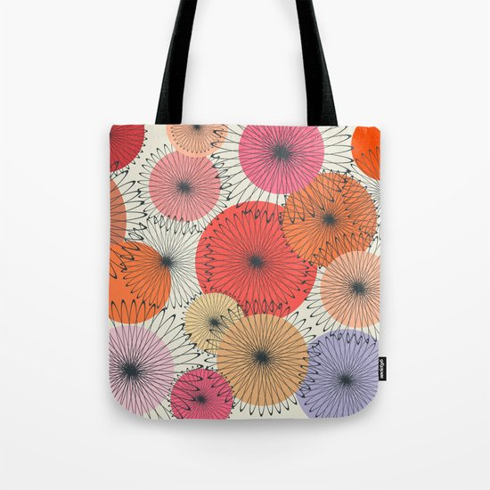 Spiral Flowers Tote Bag