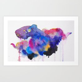 Worried Color Art Print
