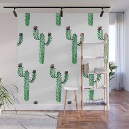 Cactus Flower II Pattern Wall Mural