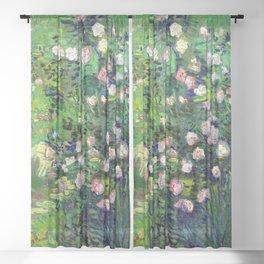 Vincent van Gogh Roses Sheer Curtain