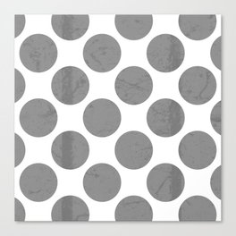 Gray Polka Dot Canvas Print
