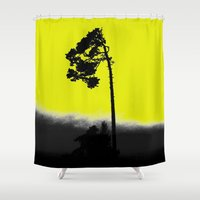 lonely Shower Curtains featuring lonely  by Nikos
