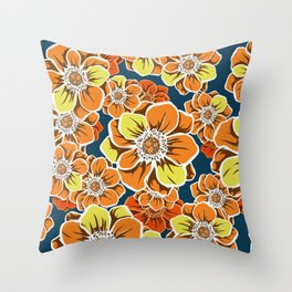 Mandala Flowers 10 Throw Pillow