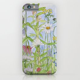 Flowers Alive Watercolor iPhone Case