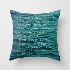 Psalm 23:1-3 Throw Pillow