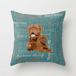 Dogue de Bordeaux Digital Art Throw Pillow