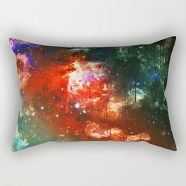 Watercolor Galaxy Rectangular Pillow