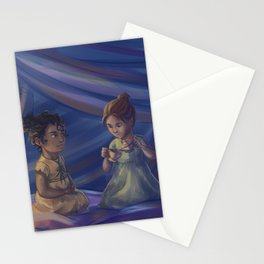 Winter and Selene Stationery Cards