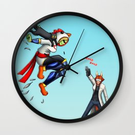 Superchicken comic Wall Clock