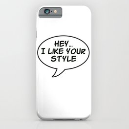 Cockatiel Style - bird quote iPhone Case