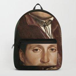 Vintage Tudor portrait Hans Holbain Backpack