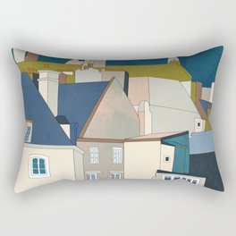 france houses abstract art Rectangular Pillow