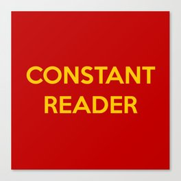 Constant Reader Canvas Print