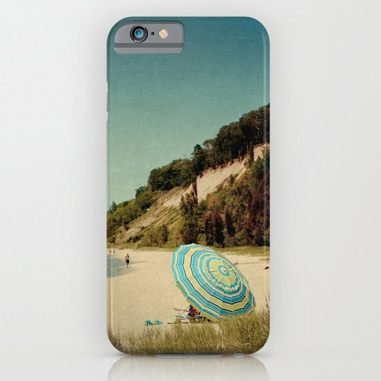 Blue Beach Umbrella iPhone & iPod Case