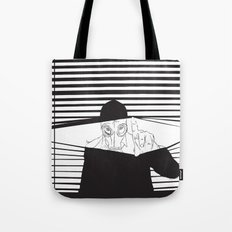 Man in the Mask -Watching your Walls Tote Bag