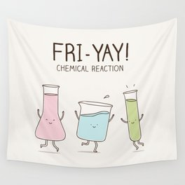chemical reaction Wall Tapestry