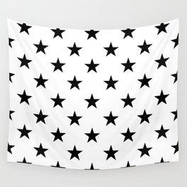 Stars (Black/White) Wall Tapestry