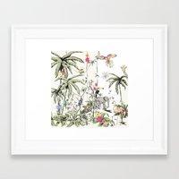 jungle Framed Art Prints featuring Jungle by Annet Weelink Design