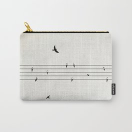 Music Score with Birds Carry-All Pouch