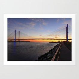 Dawn at the Indian River Inlet Bridge Art Print