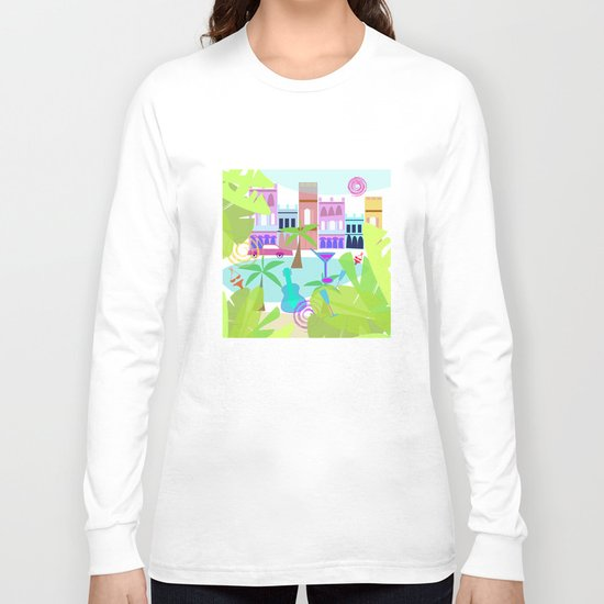 Cuban Holiday Long Sleeve T-shirt