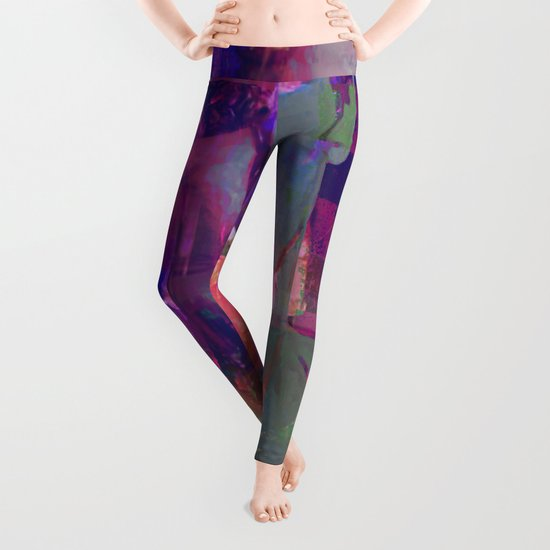 Super Abstract Man Leggings