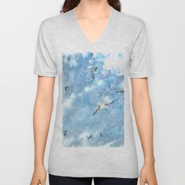 The Chasers - Seagulls In Flight Unisex V-Neck