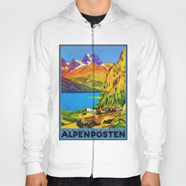 Vintage Switzerland Alpine Coach Travel Hoody