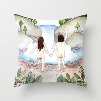 freedom Throw Pillows featuring Freedom! by Brooke Weeber