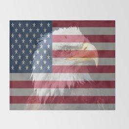 United States Freedom Eagle Throw Blanket