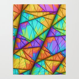 Colorful Slices Poster