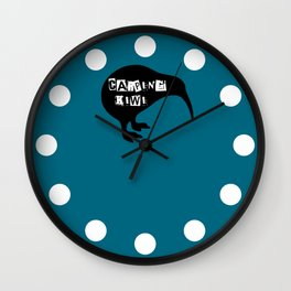 KIWI Carping Kiwi Wall Clock