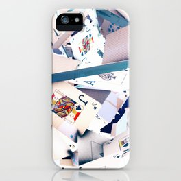 Flying playing cards iPhone Case