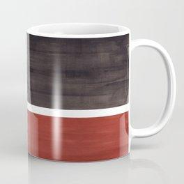 Colorful Bright Minimalist Rothko Color Field Midcentury Modern Brown Black Square Vintage Pop Art Coffee Mug