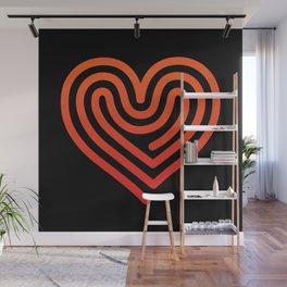 Hot Heart Wall Mural
