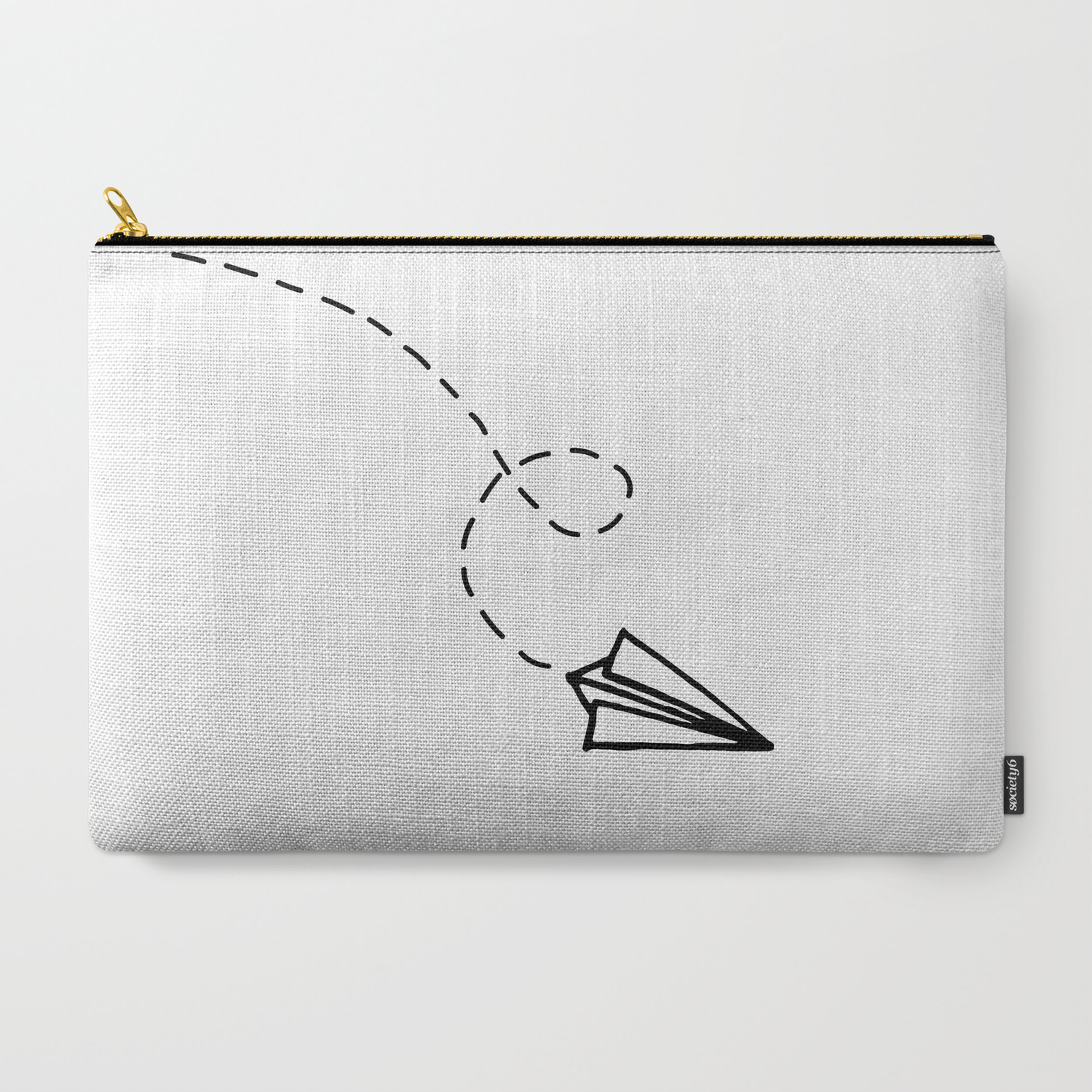 Send It Simple Paper Airplane Drawing Carry All Pouch By