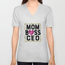 MOM BOSS CEO Unisex V-Neck
