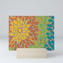 Fall Decor Modern Abstract Dahlia Mini Art Print