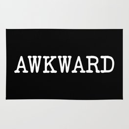 Awkward Funny Quote Rug