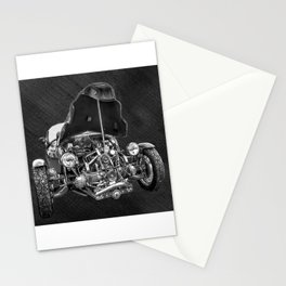 Vintage Cycle Car Stationery Cards