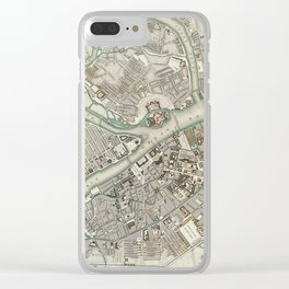 Vintage Map of St Petersburg Russia (1834) Clear iPhone Case