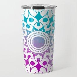 Mandala #2 (Purple Pink Turquiose) Travel Mug