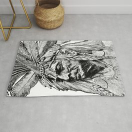 Chief / Vintage illustration redrawn and repurposed Rug
