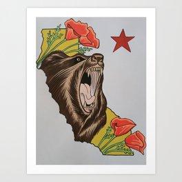 Cali pride Art Print