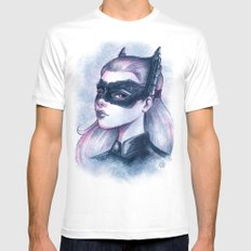 Catwoman Sketch  White SMALL Mens Fitted Tee