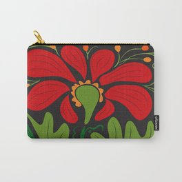 Big Red Dahlia (abstract hand-drawn flower) Carry-All Pouch