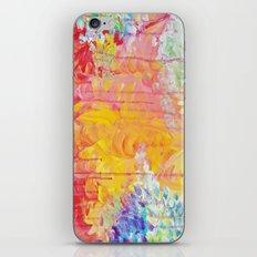 SUN SHOWERS - Beautiful Pastel Coloful Rain Clouds Bright Sky Abstract Acrylic Painting iPhone & iPod Skin